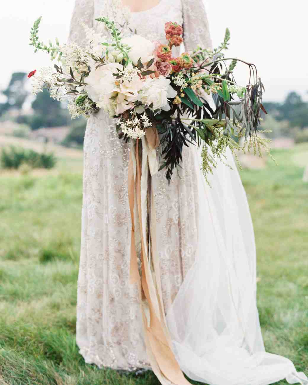 Fall Wedding Flower Bouquets Ideas Cranberry Red Brides Maids