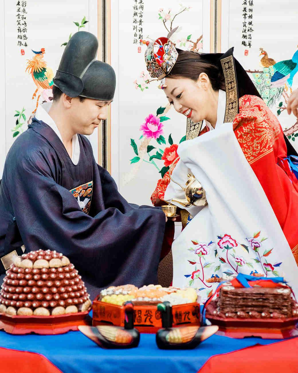 grace ceron wedding tea ceremony bride groom