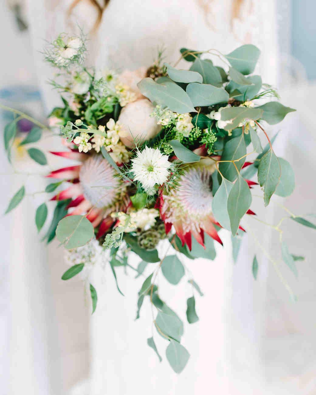 heat resistant bouquets protea
