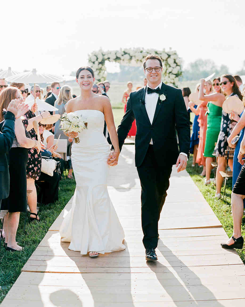 jamie jon wedding bride and groom recessional