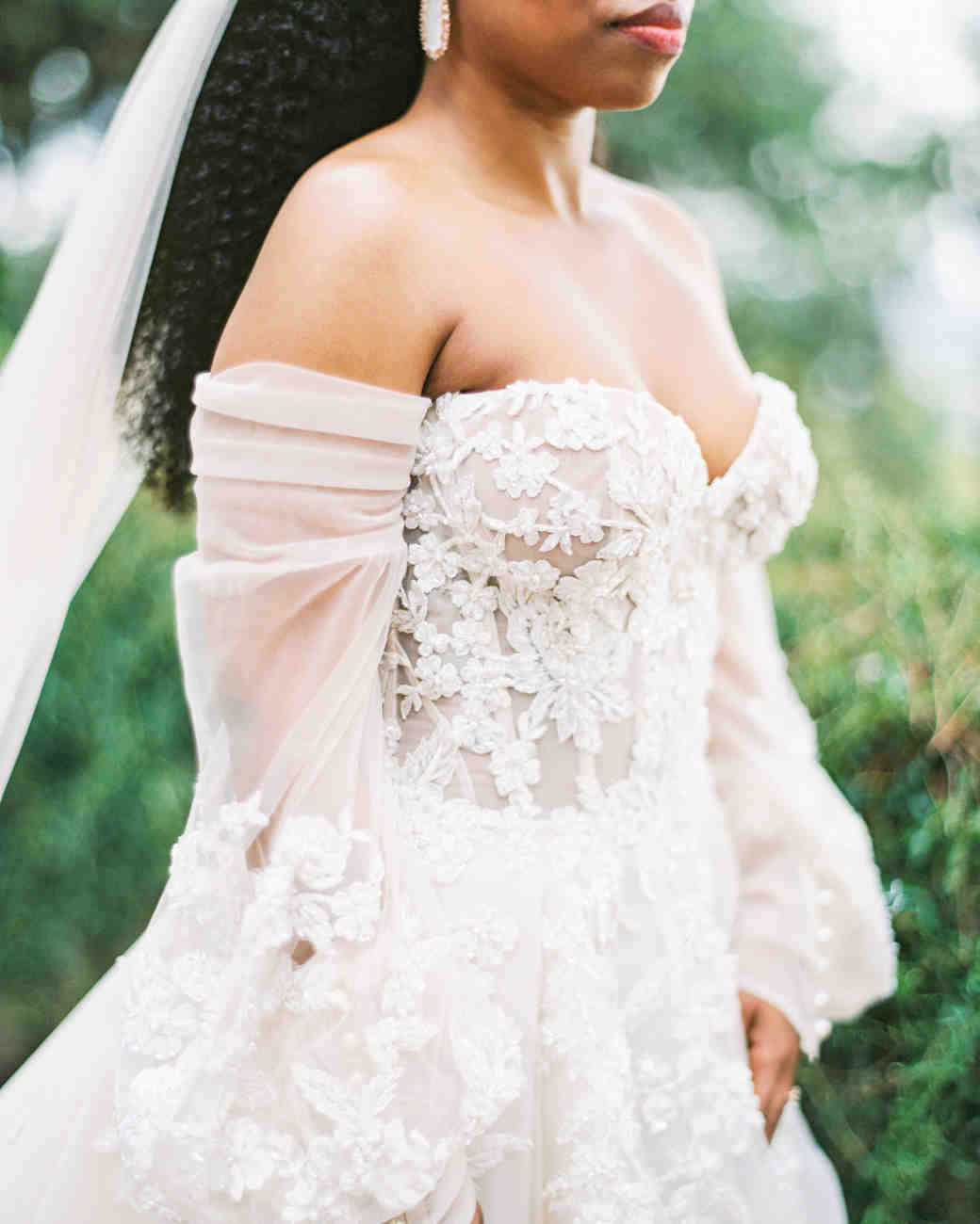 jamie and michael wedding dress sleeve detail