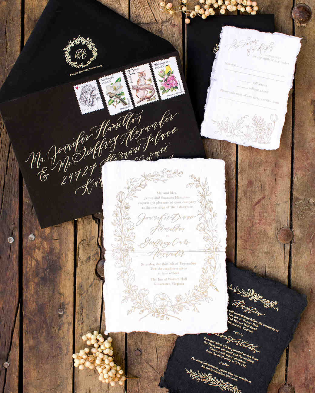 jen geoff wedding invitation