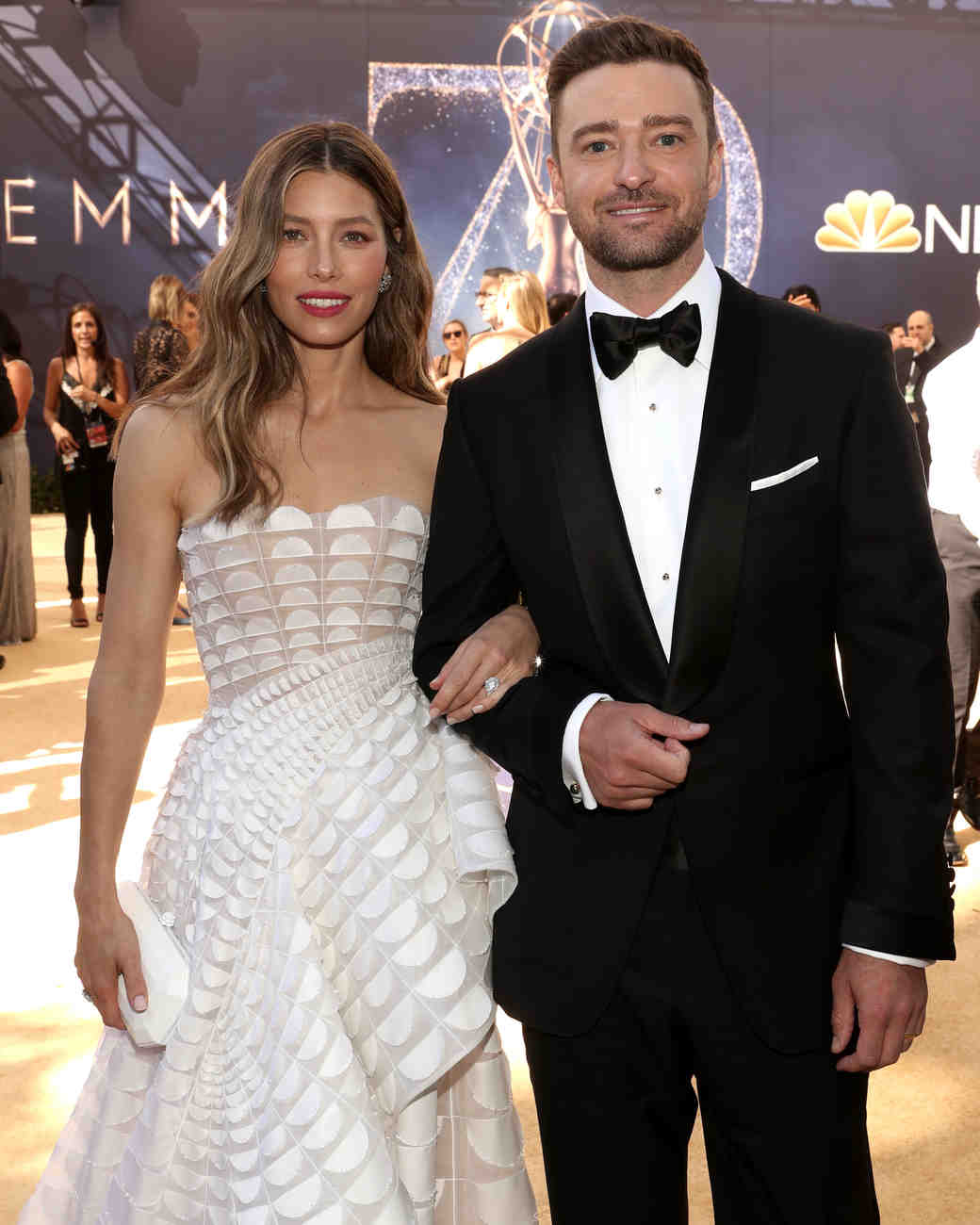 jessica biel and justin timberlake at the 2018 emmys