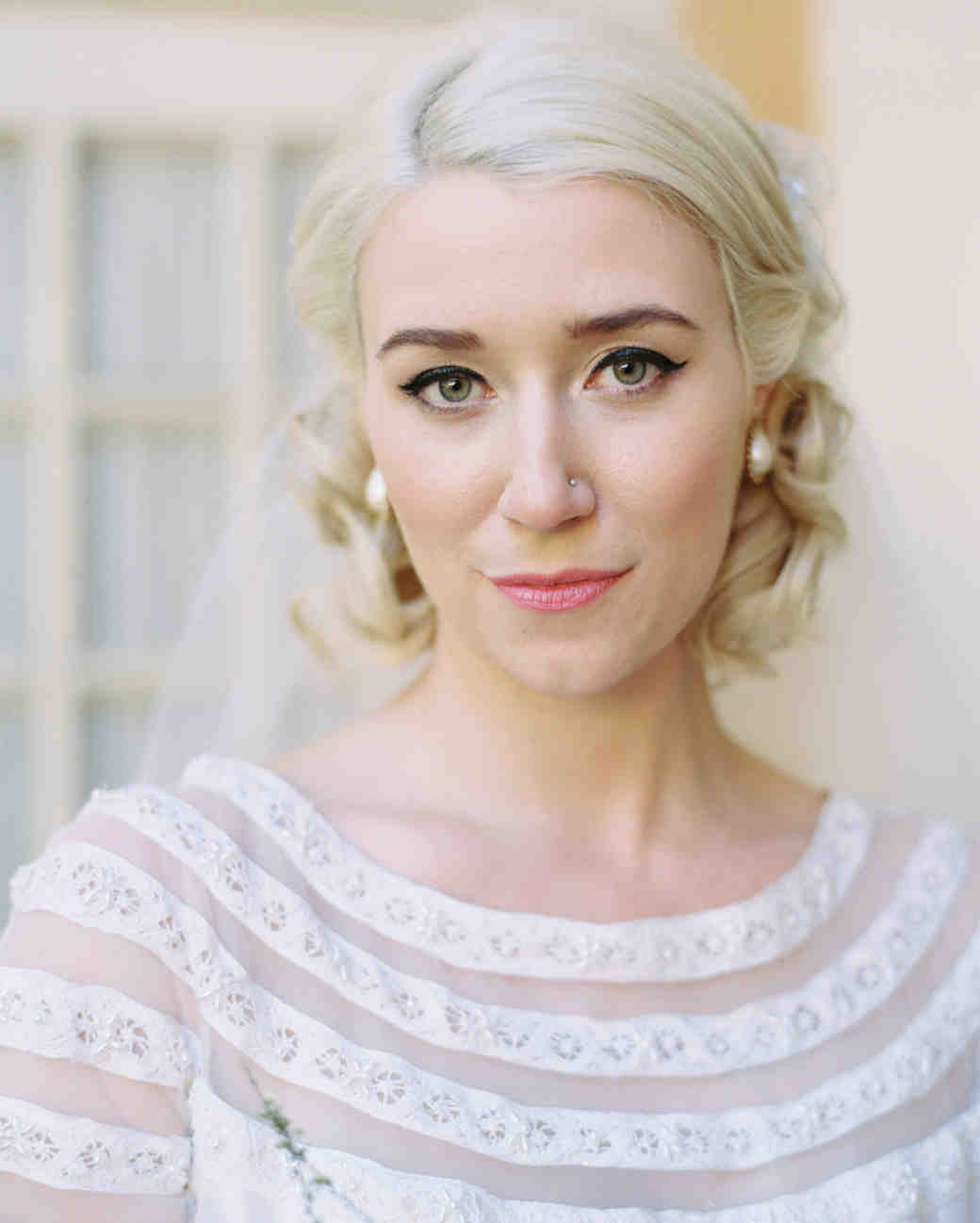 16 Gorgeous Medium-Length Wedding Hairstyles | Martha Stewart Weddings