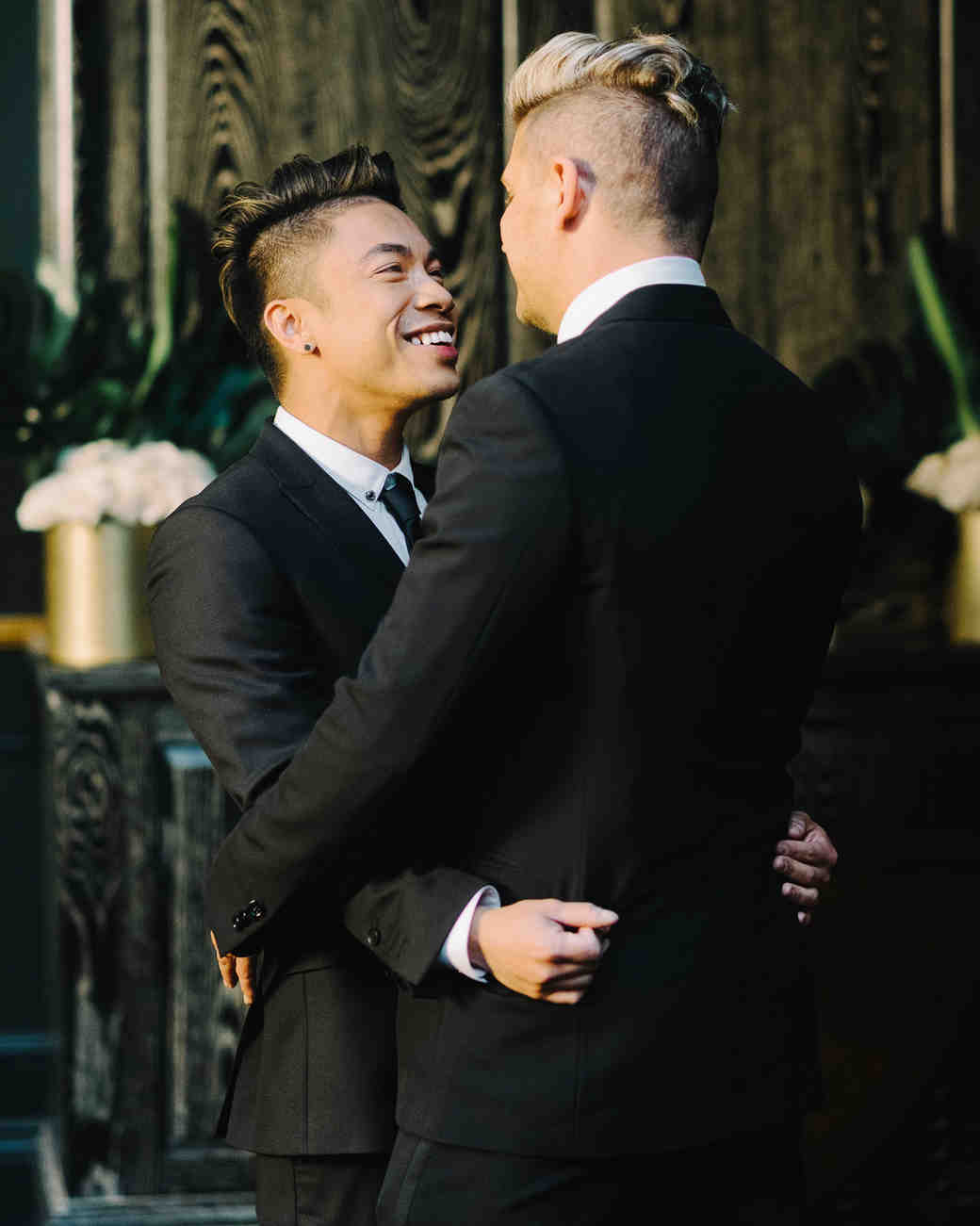 grooms' first dance together after city hall wedding