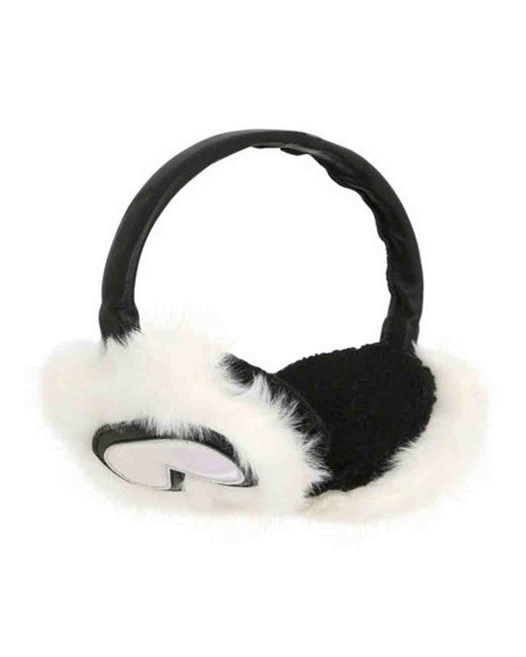 karl lagerfeld holiday faux fur ear muffs