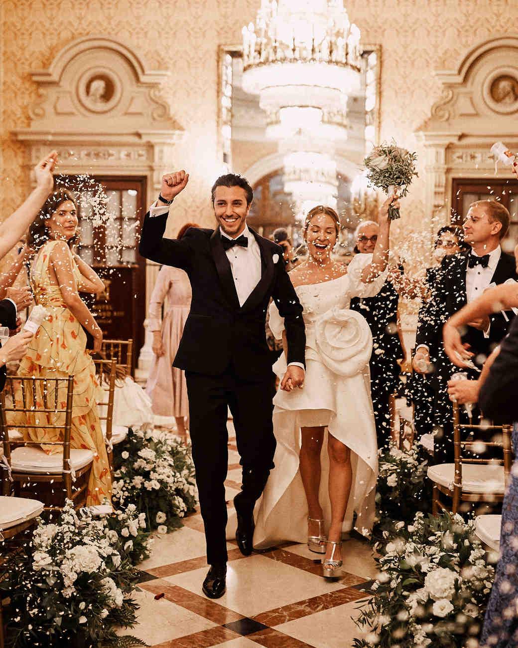 karolina sorab wedding couple recessional