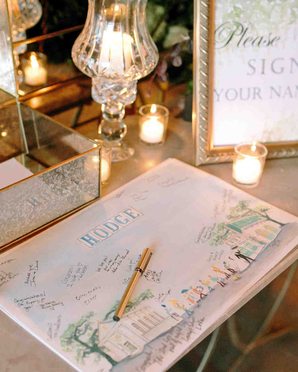 kate austin wedding guestbook