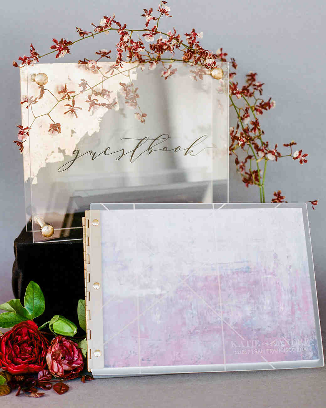 katie andre wedding guestbook lucite sign