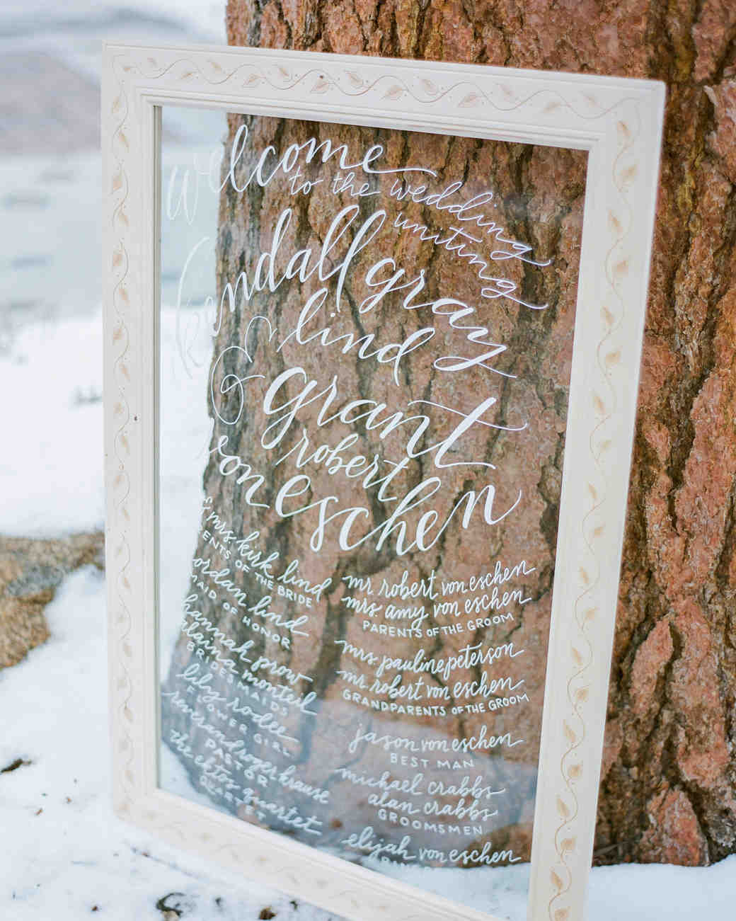 Glass Framed Wedding Program