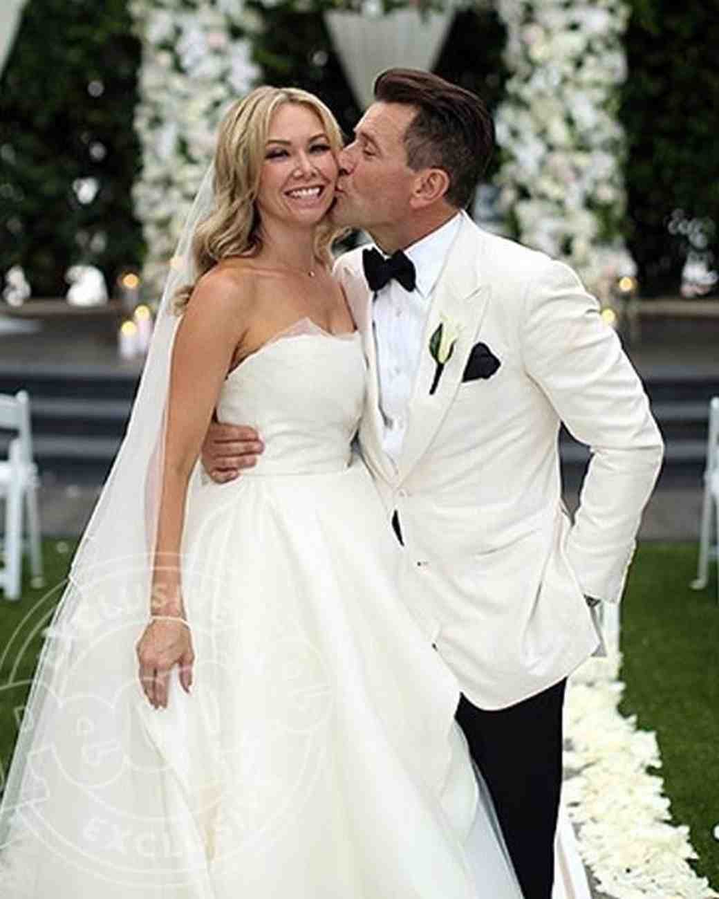 Kym Johnson and Robert Herjavec at Wedding