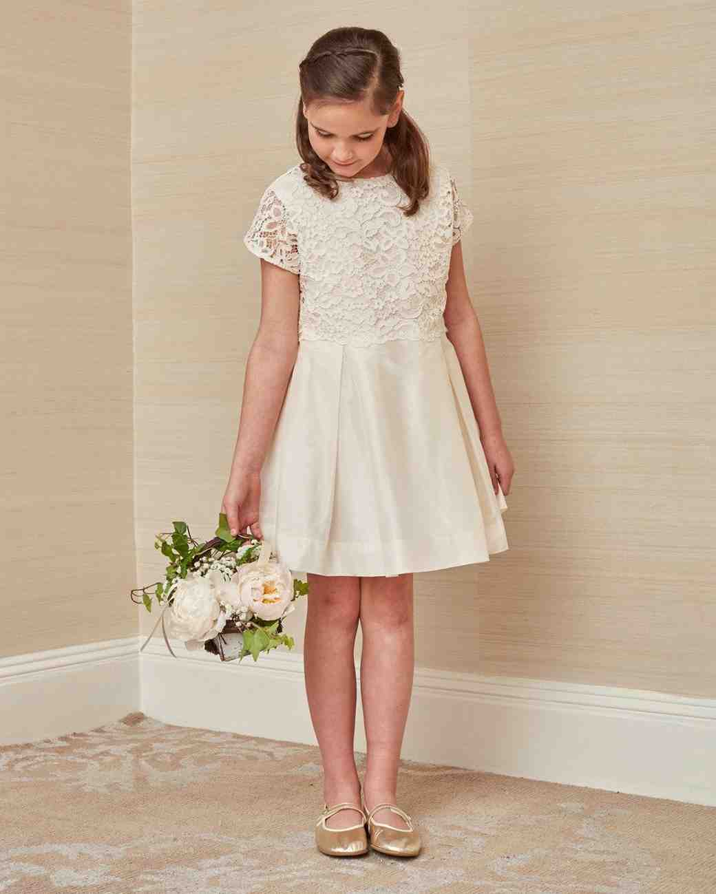 white lace flower girl dress Childrenchic