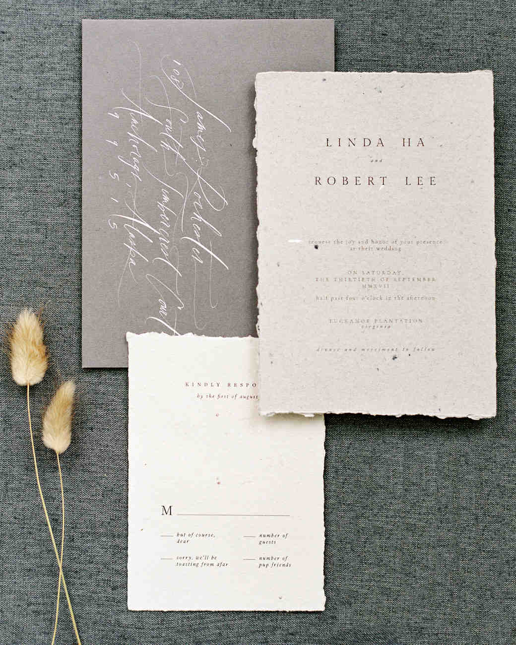 linda robert wedding invitation