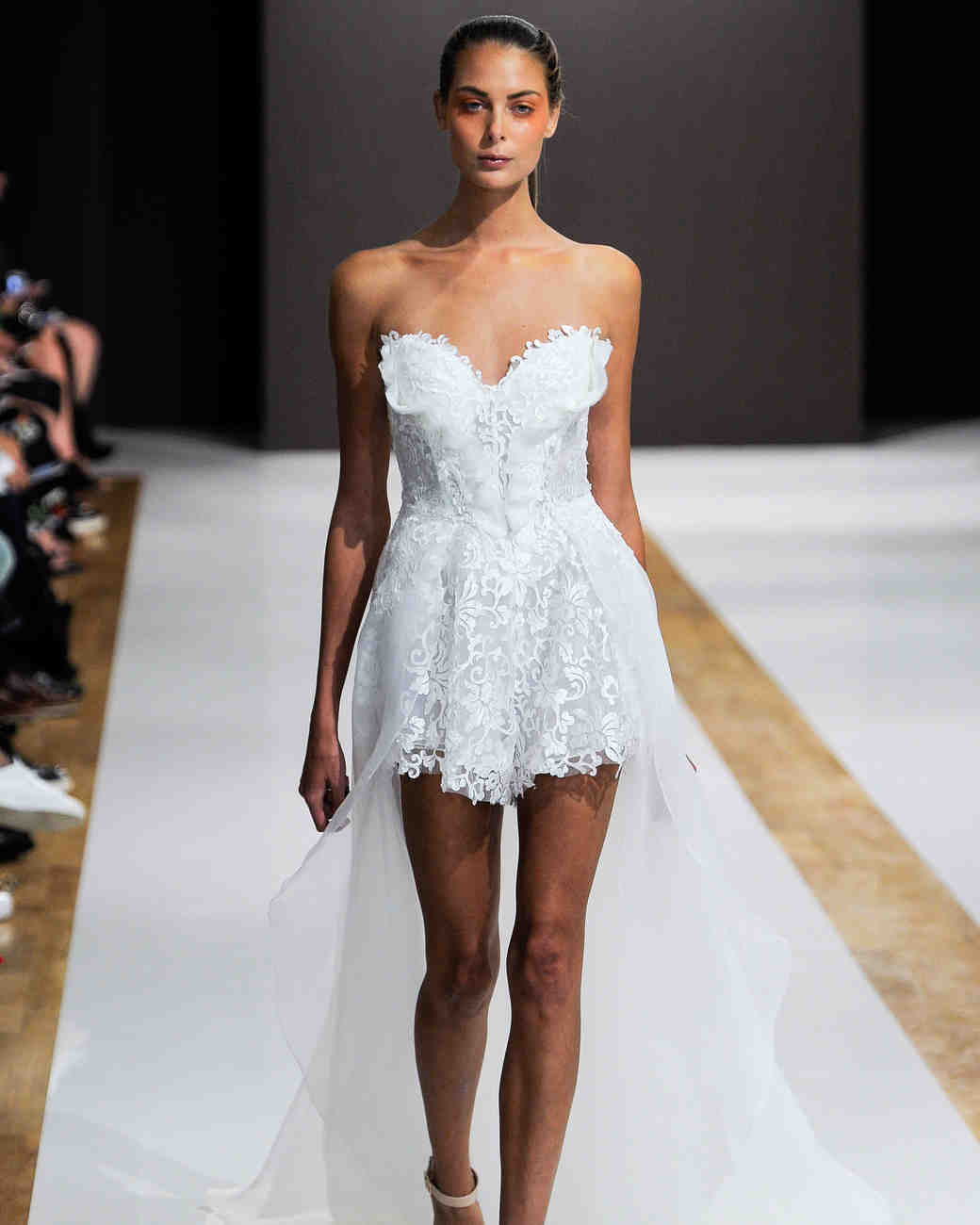 mark zunino wedding dress fall 2018 short high-low sweetheart