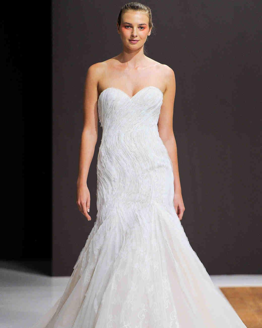 mark zunino wedding dress fall 2018 rouched sweethear trumpet