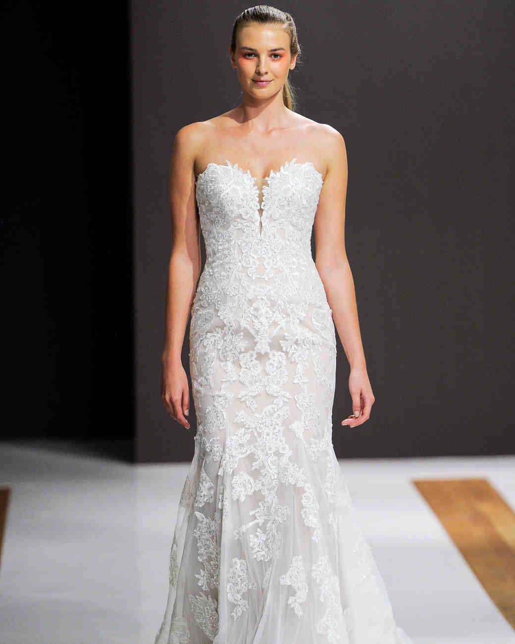 mark zunino wedding dress fall 2018 lace sweetheart trumpet