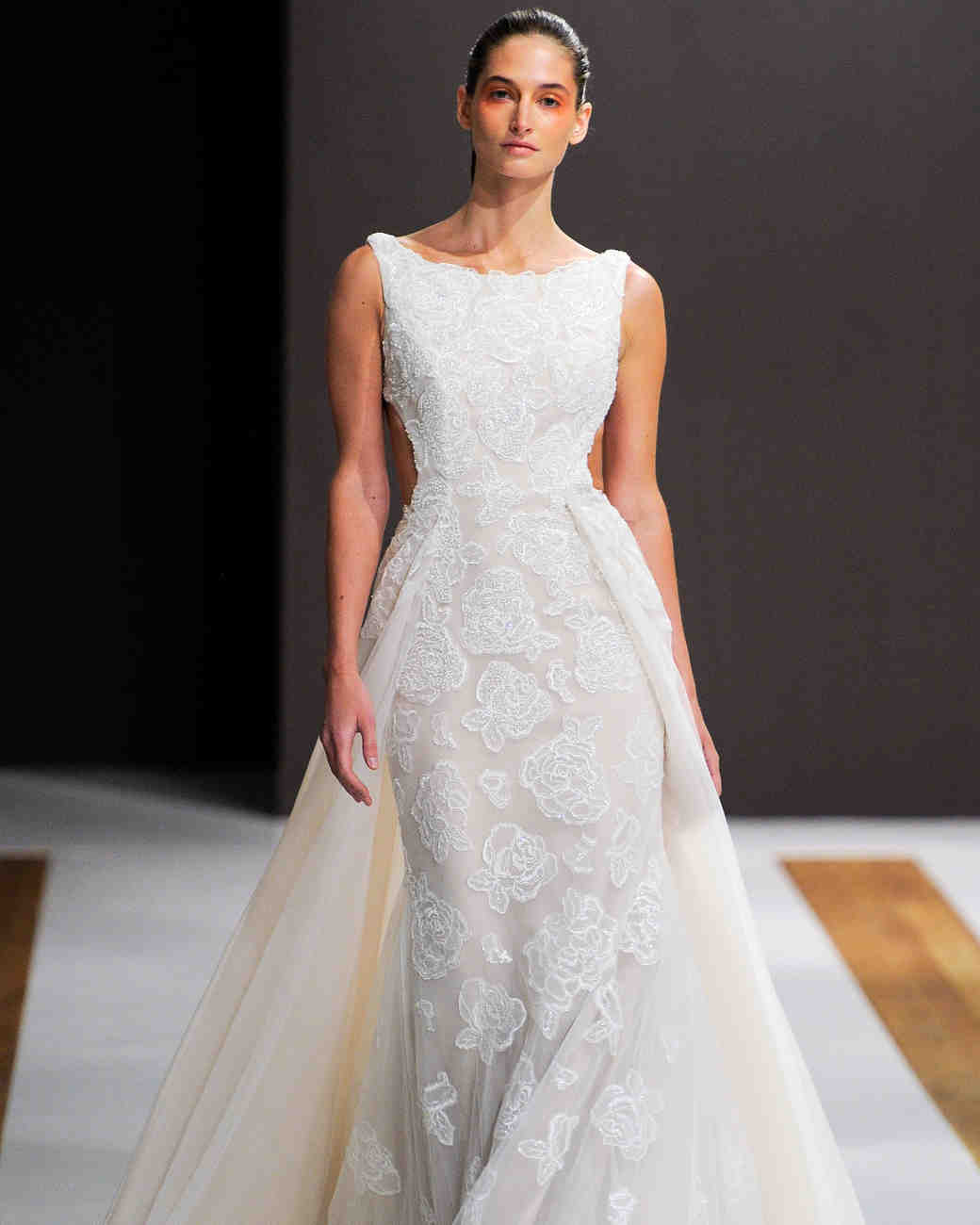 mark zunino wedding dress fall 2018 cut-out a-line sleeveless