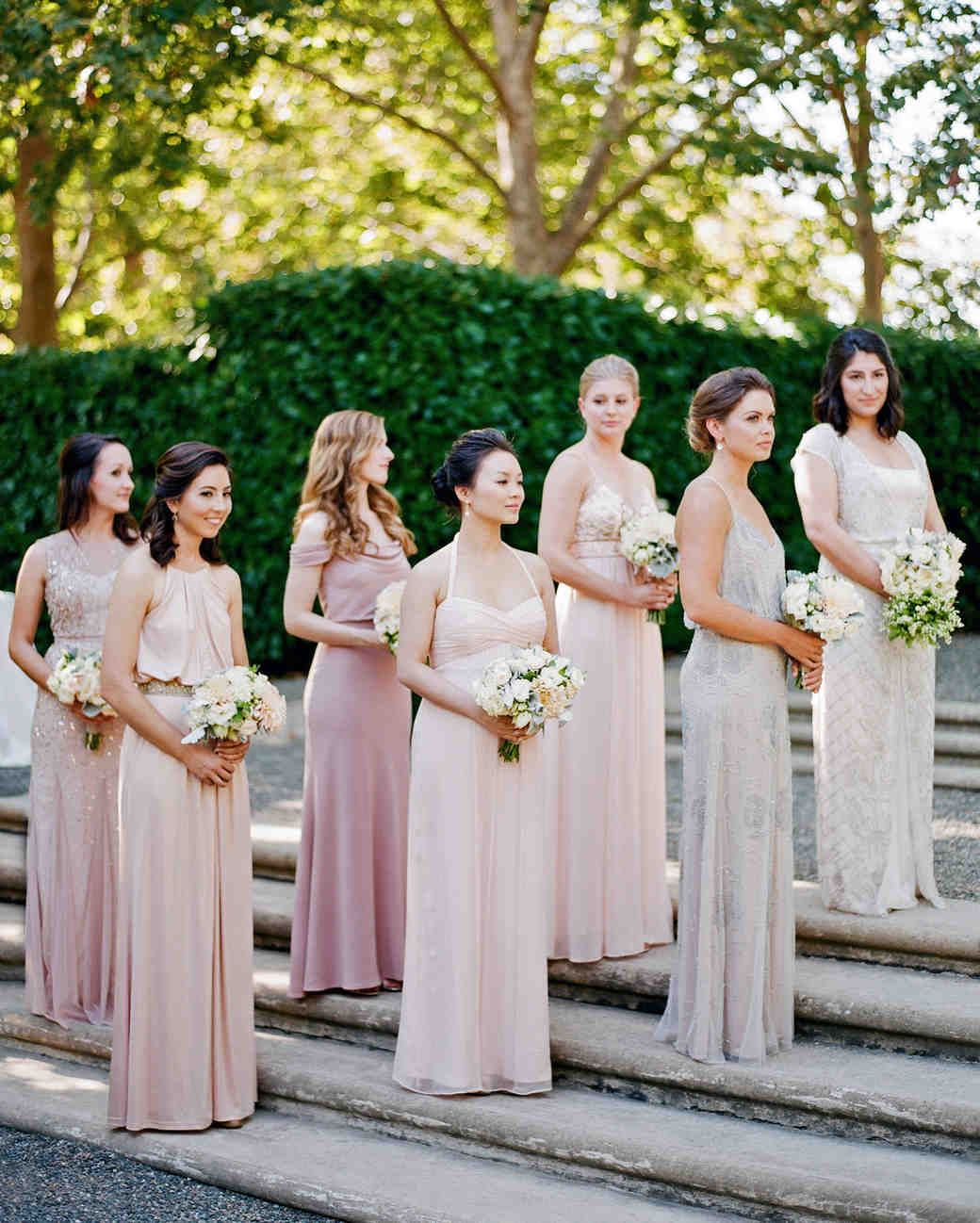 Bridesmaids Dresses with Pink Petal Wedding