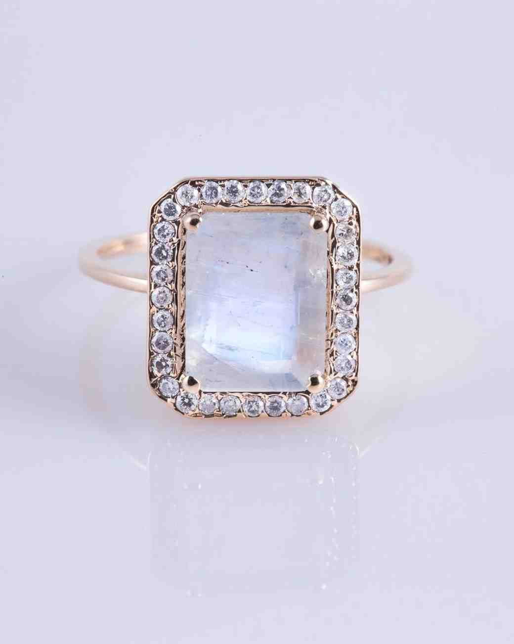 Moonstone Engagement Ring, Carried Jewels