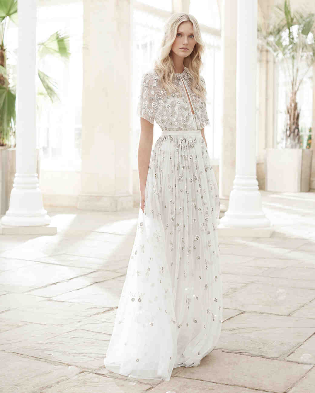 needle and thread wedding dress spring2017 sheer vest