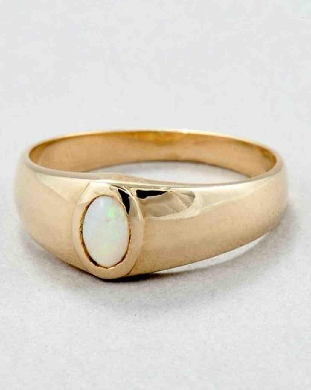 loren stewart signet opal engagement ring