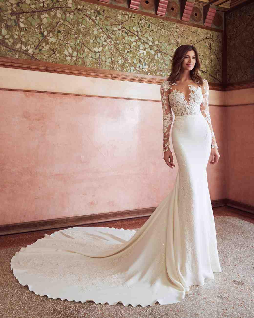 b4c3ad6d38 Pronovias x Kleinfeld Fall 2019 Wedding Dress Collection
