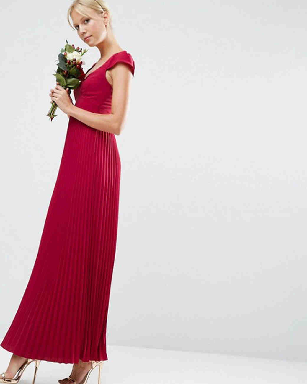 Red bridesmaid dresses martha stewart weddings ombrellifo Choice Image