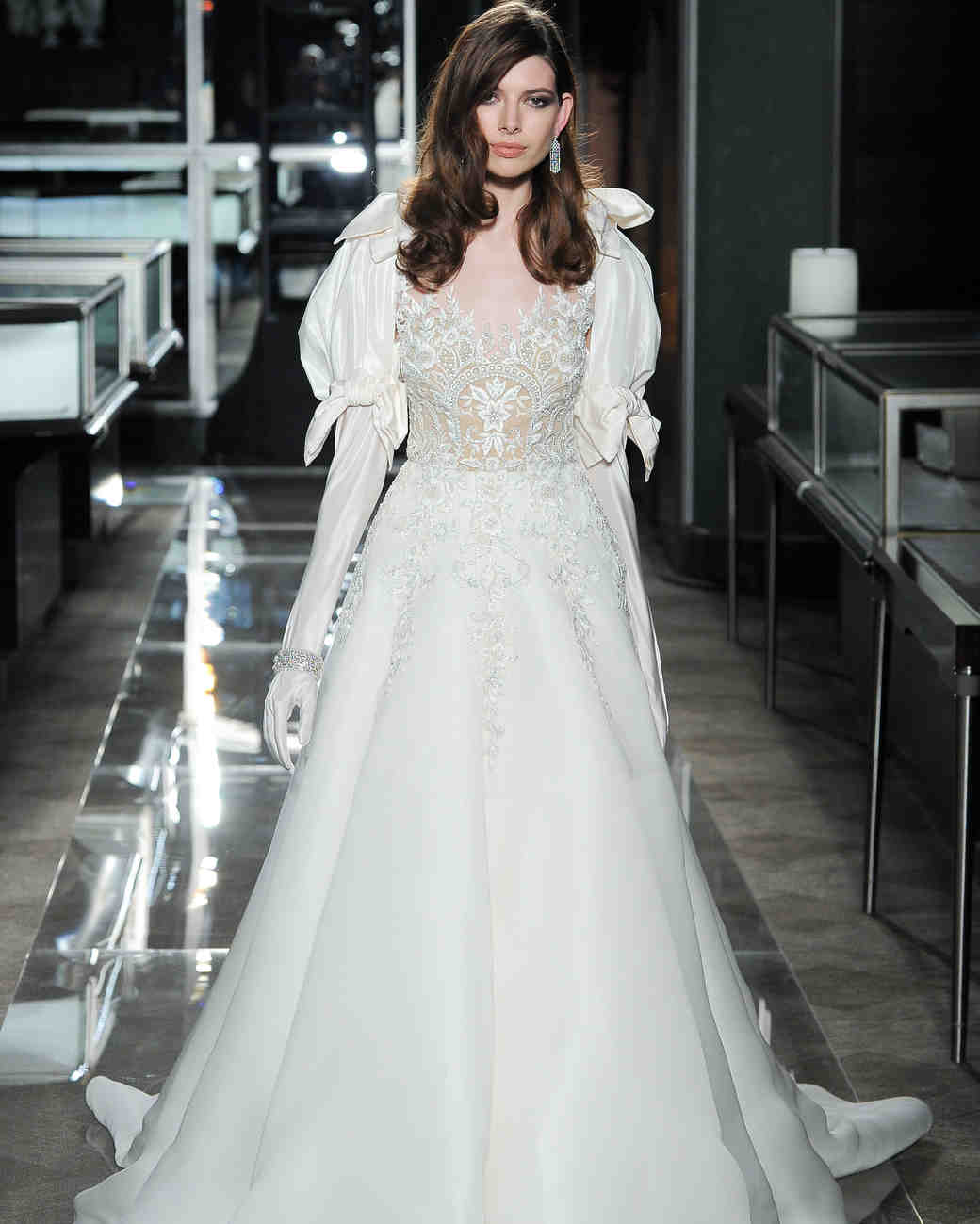 reem acra spring 2018 wedding dress with dramatic sleeves