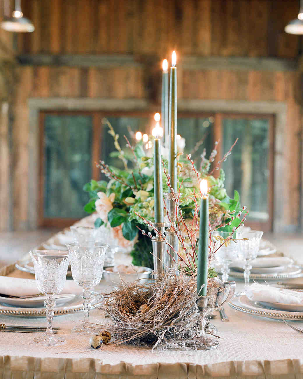 rustic nest centerpiece