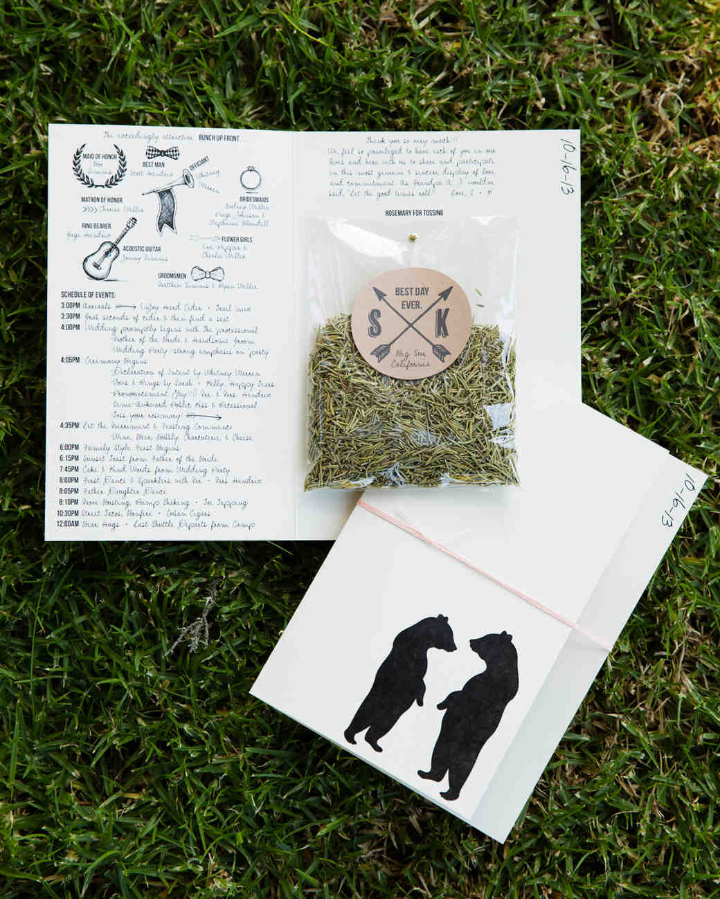 Bag of Rosemary and Stationery