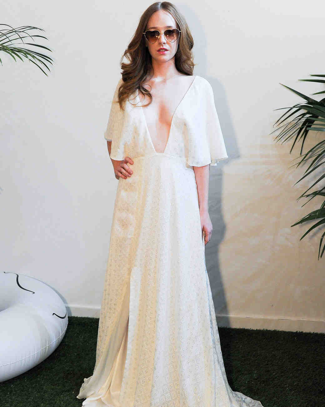 Jackie O Style Wedding Dress 41 Simple Sarah Seven Fall Wedding