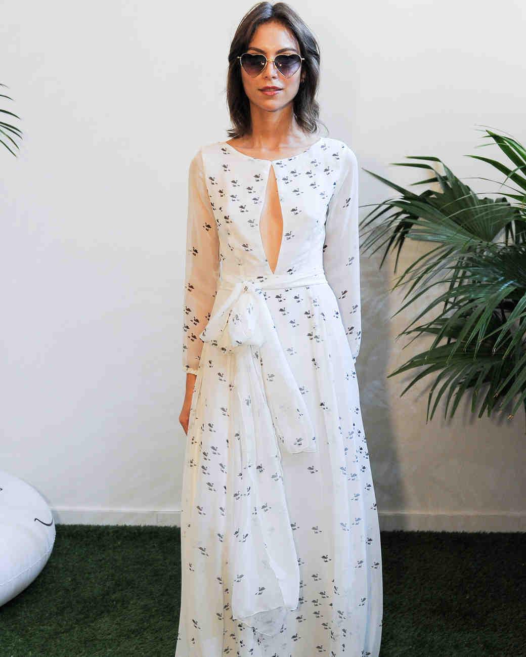 Sarah Seven Bow Wedding Dress