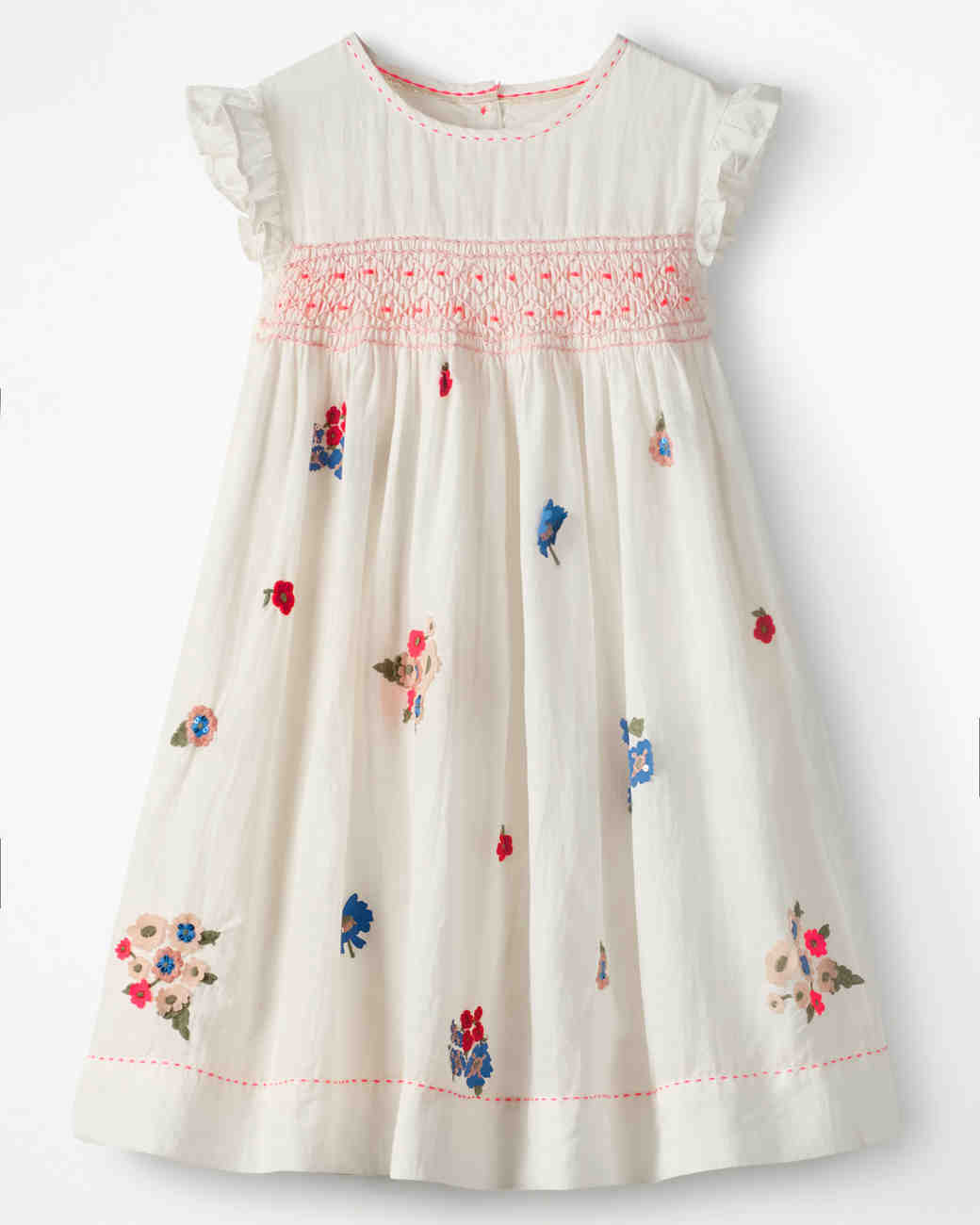 Short Sleeve Flower Girl Dress, Boden Floral Embroidered Dress