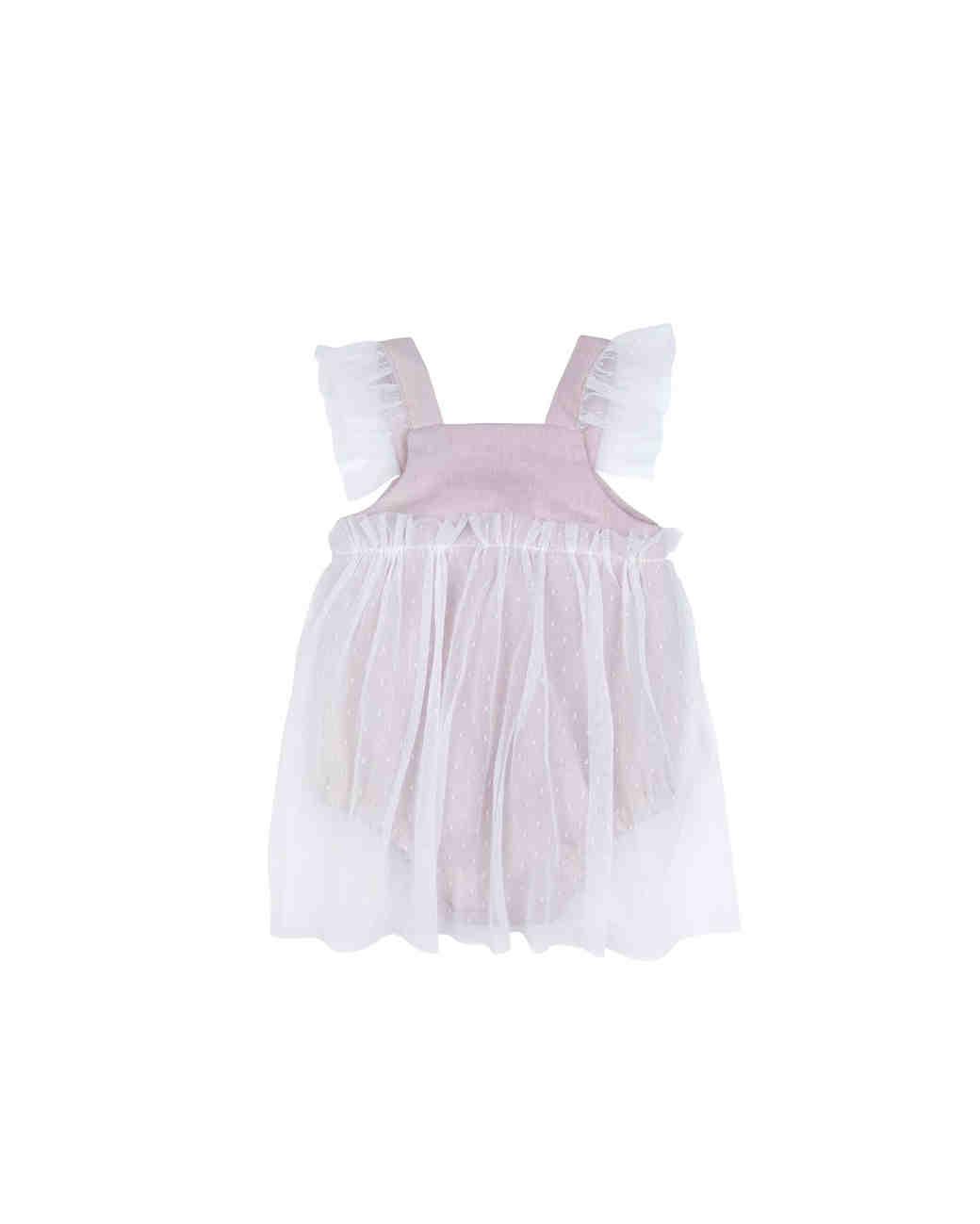 Bebe Organic Sleeveless Flower Girl Dress Romper