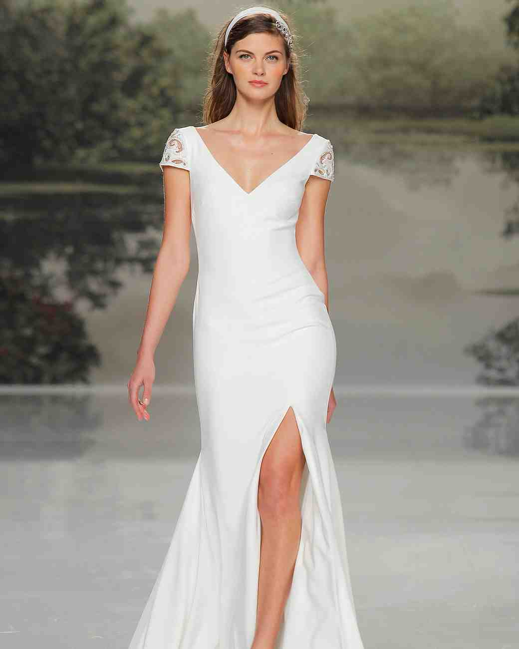 st patrick v-neck spring 2018 wedding gown