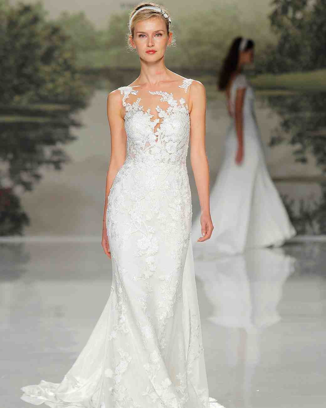 st patrick v-neck lace spring 2018 wedding gown