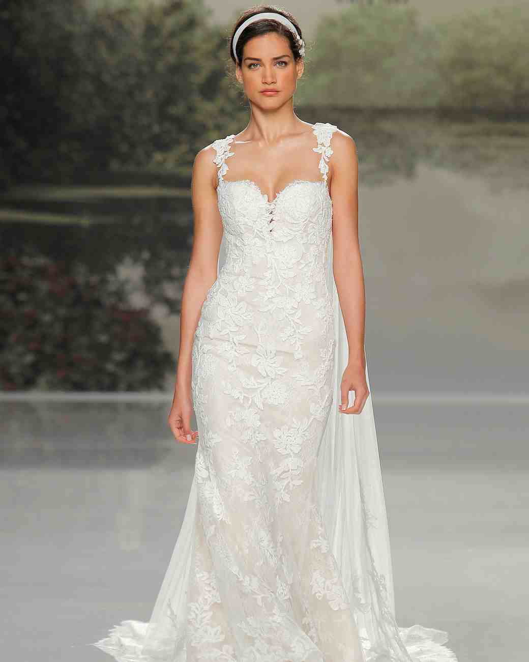 st patrick lace straps spring 2018 wedding gown