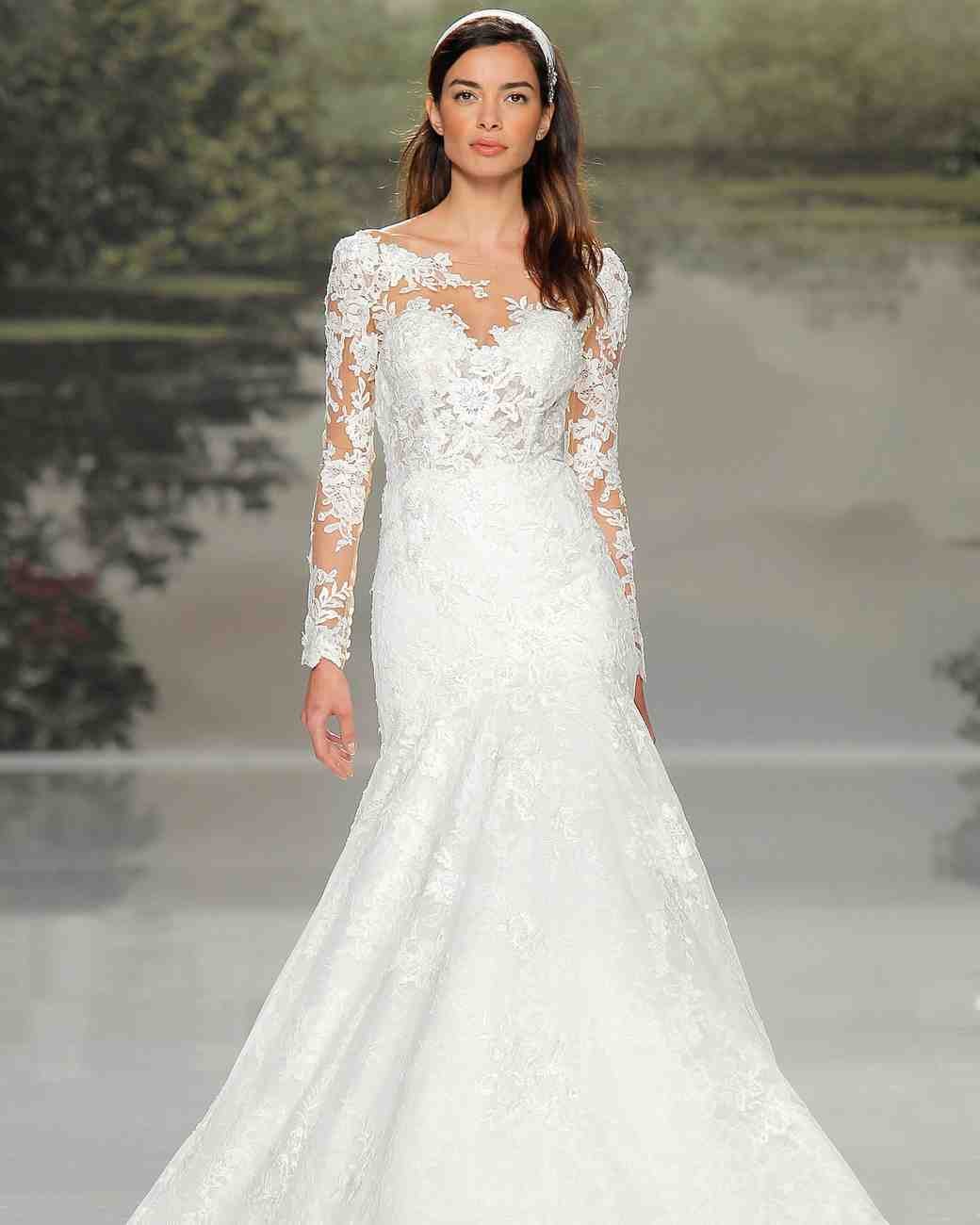 st patrick long-sleeve lace spring 2018 wedding gown