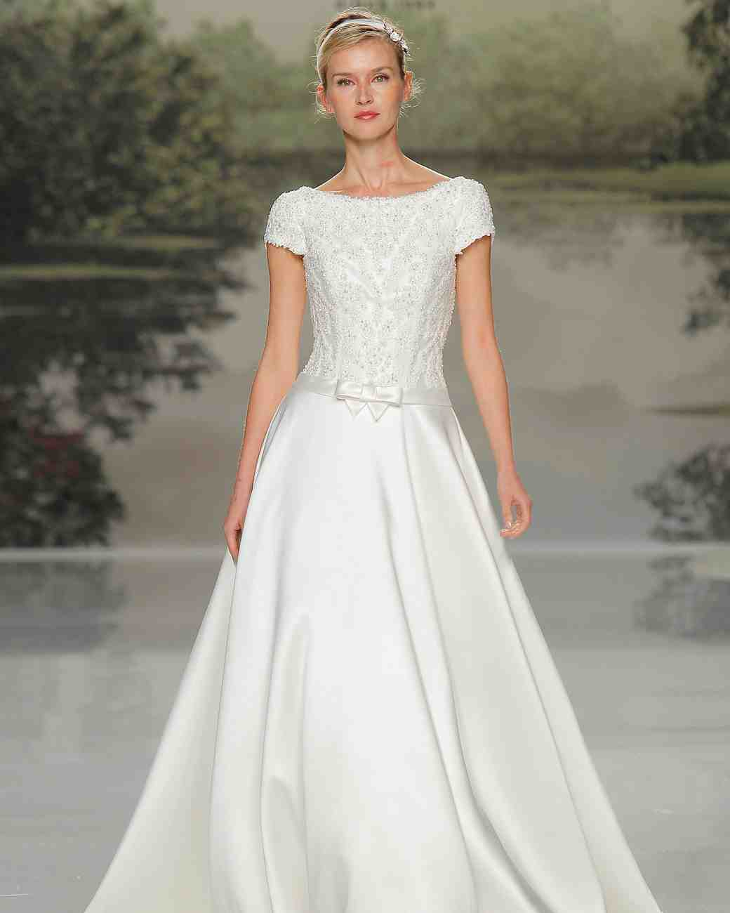 st patrick cap sleeve spring 2018 wedding gown