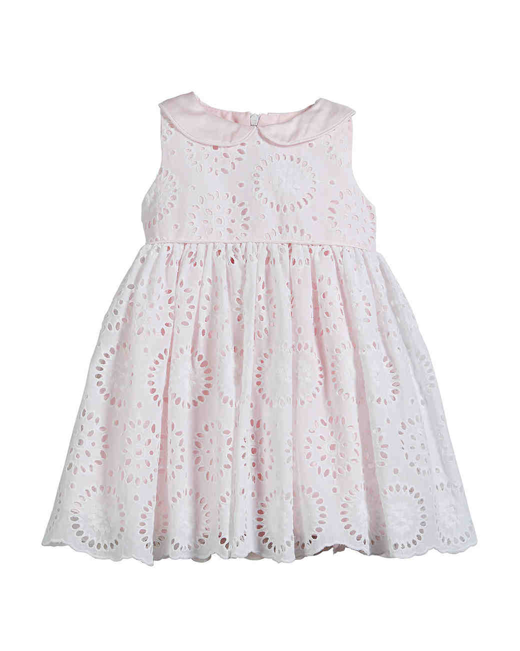summer flower girl outfit eyelet pink dress