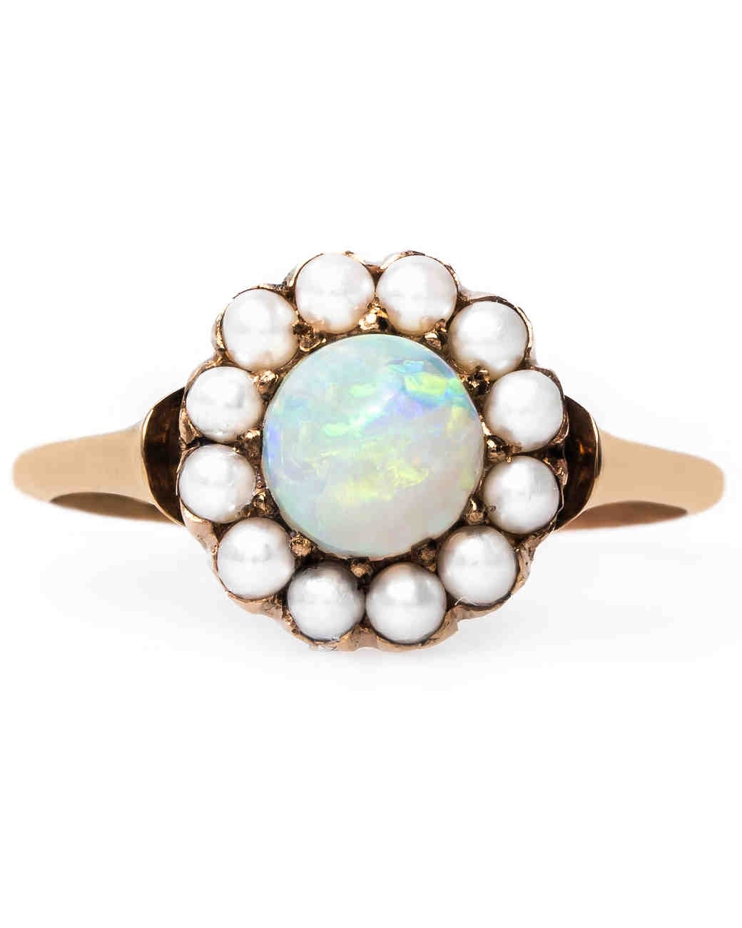 Trumpet & Horn Opal Engagement Ring