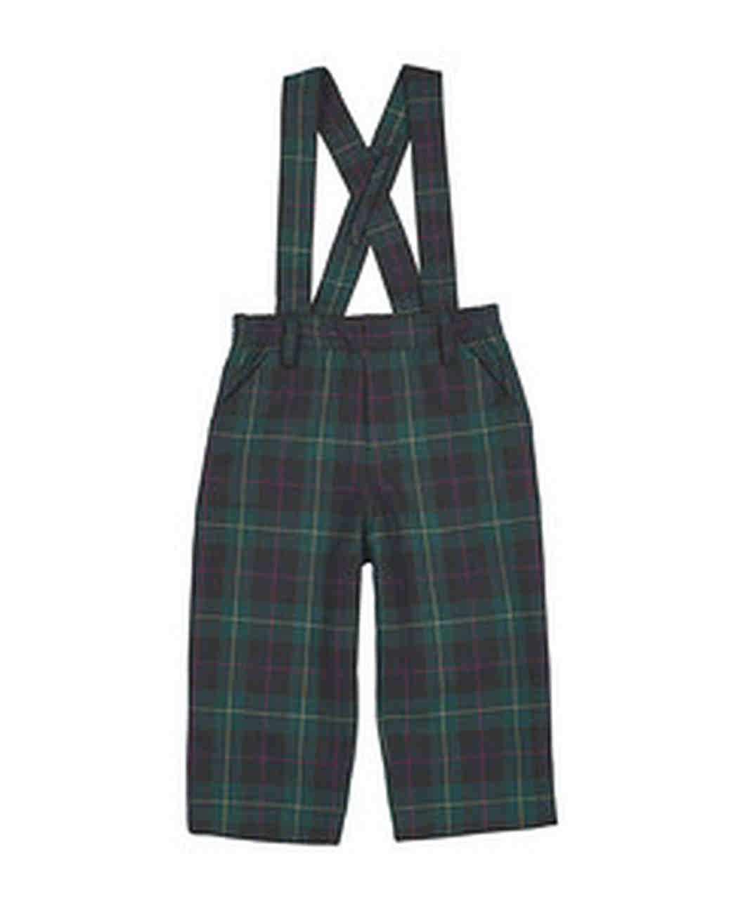 plaid ring bearer pants