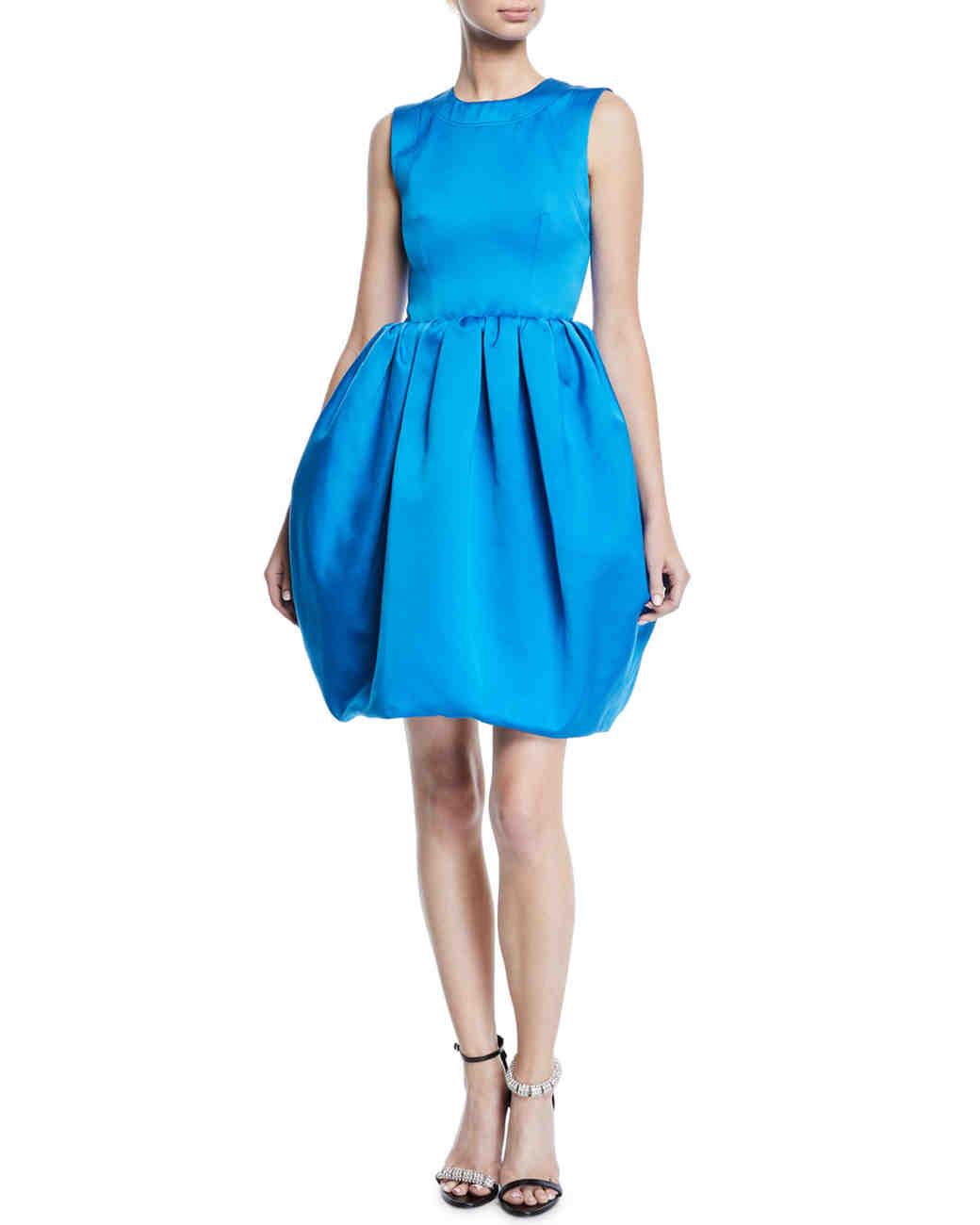 blue calvin klein bubble dress