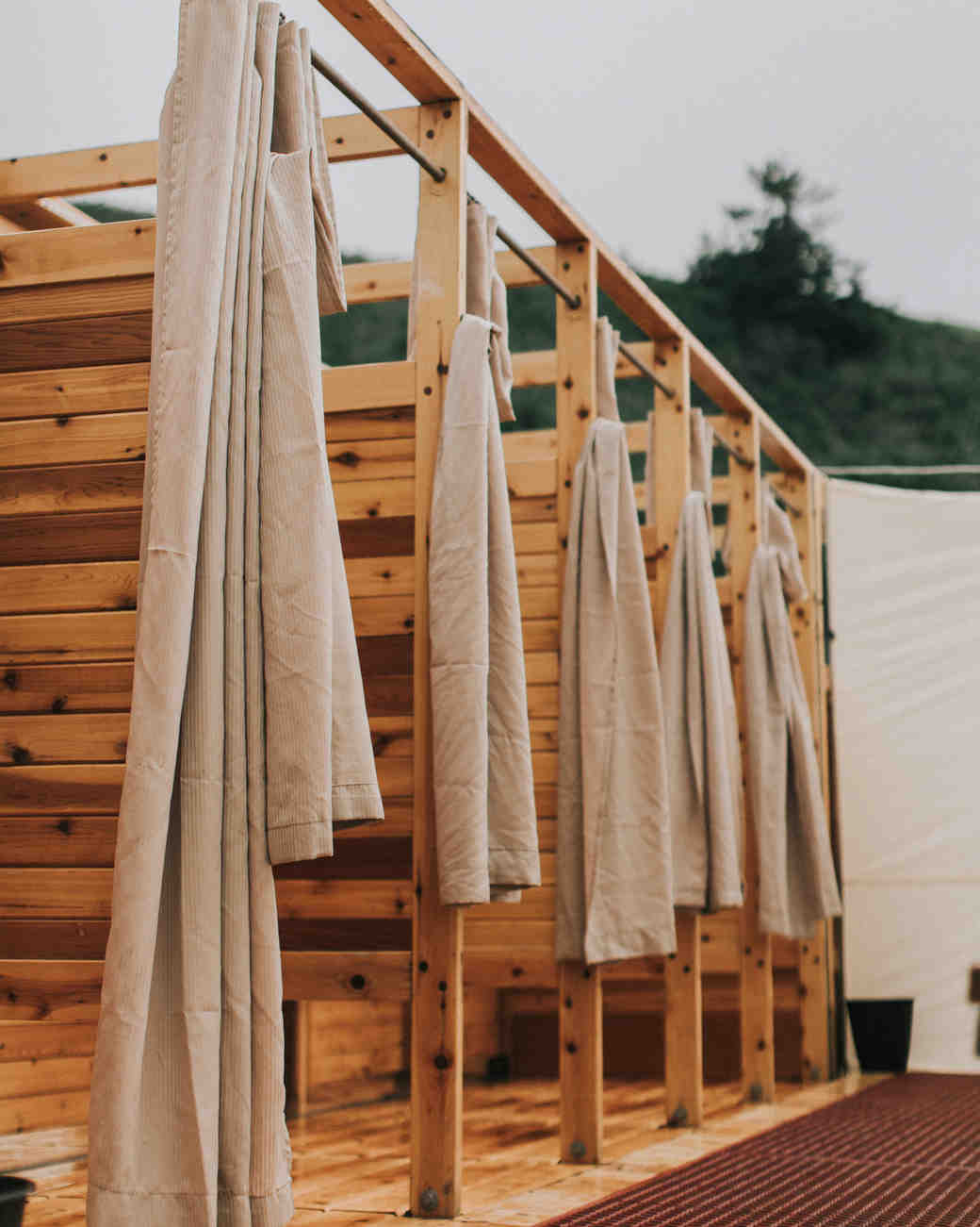zai phil camping wedding welcome dinner showers stalls