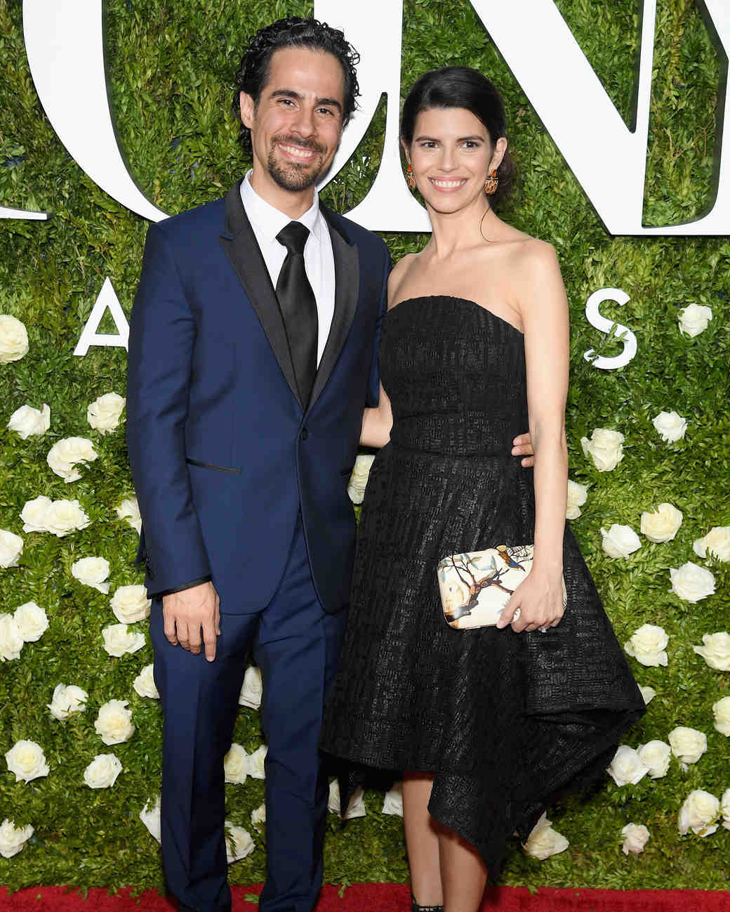 Alex Lacamoire and Ileana Ferreras at 2017 Tony Awards