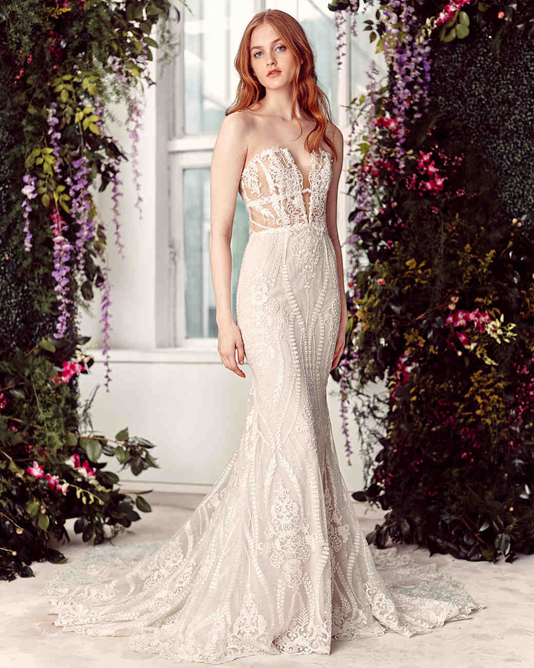 alyne by rita vinieris strapless embroidered trumpet wedding dress spring 2020