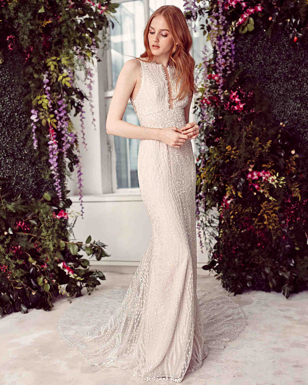 alyne by rita vinieris champagne beaded high-neck wedding dress spring 2020