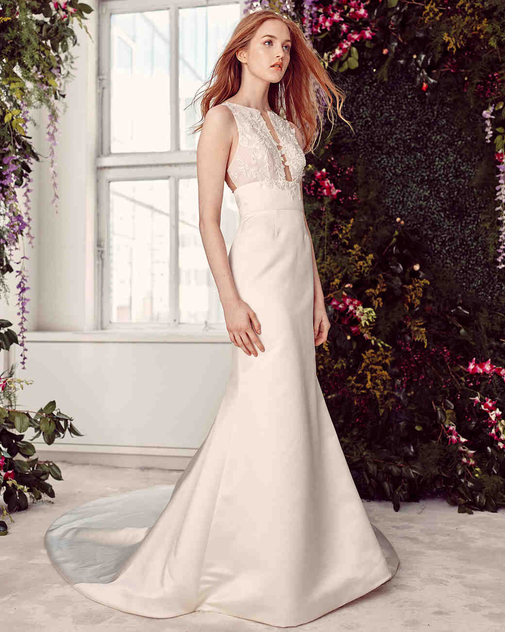alyne by rita vinieris high-neck cut-out bust wedding dress spring 2020