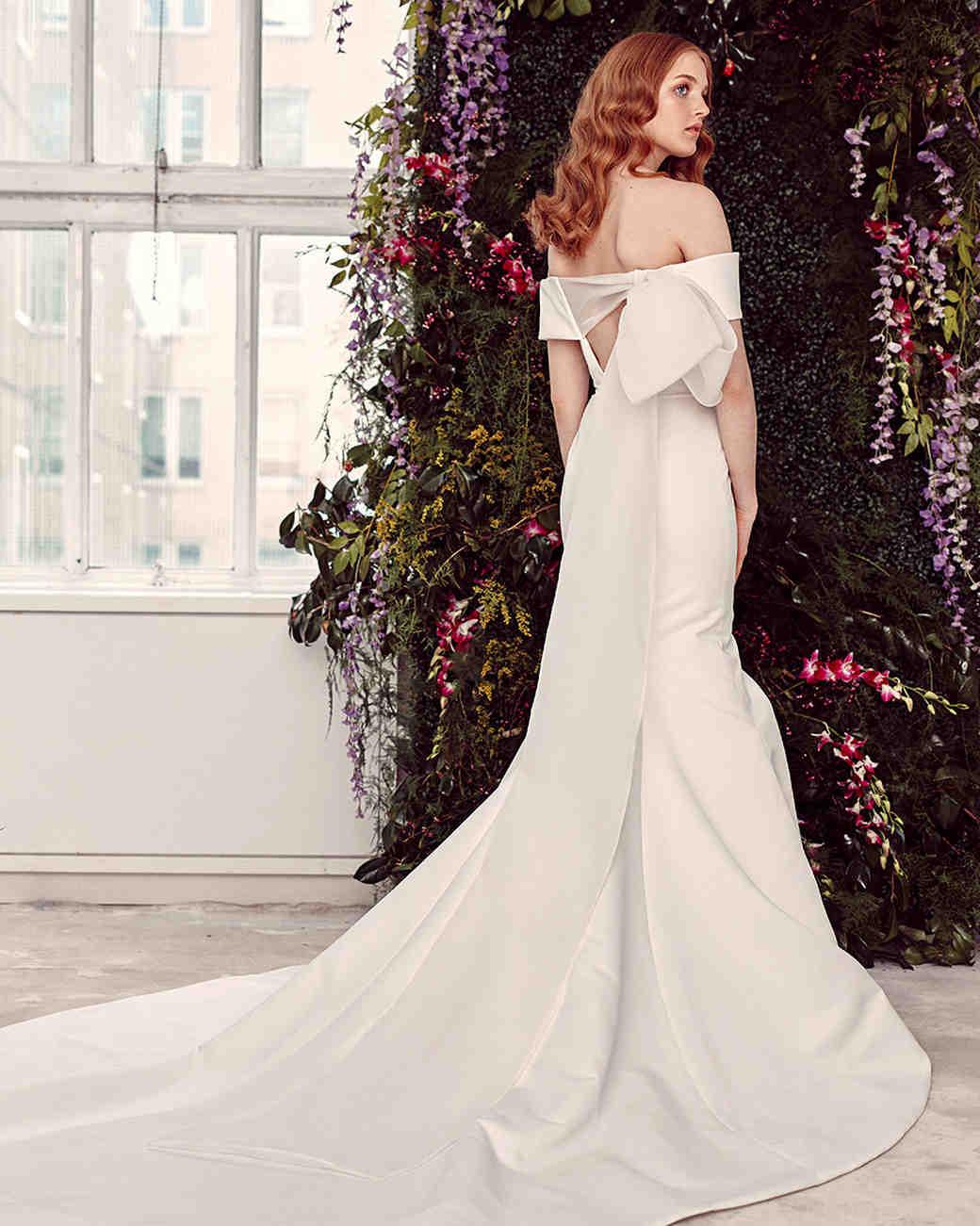 2e489e4527c34 alyne by rita vinieris off-the-shoulder back bow wedding dress spring 2020