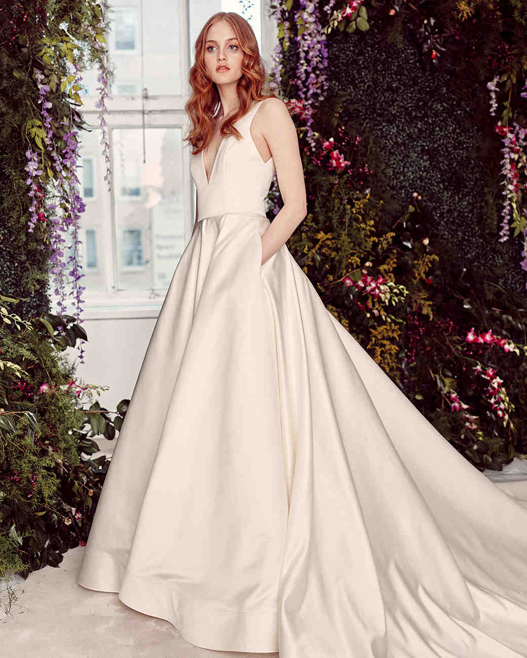 alyne by rita vinieris v-neck a-line pockets wedding dress spring 2020